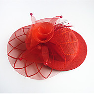 Women's Tulle / Fabric Headpiece-Wedding / Special Occasion Birdal Fascinators 1 Piece