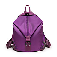Women Backpack Nylon All Seasons Sports Casual Outdoor Shopping Bucket Zipper Gold Black Orange Purple Red