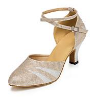 Sapatos de Dança(Preto / Prateado / Dourado / Outro) -Feminino-Não Personalizável-Salsa