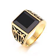 Rock Character  18K Dark Ruby Ring