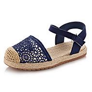 Girl's Sandals Summer Comfort / Round Toe / Sandals Linen Casual Flat Heel Others Blue / Purple / Beige