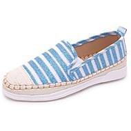 Damen Flache Schuhe Leinwand Sommer Normal Flacher Absatz Schwarz Silber Grau Blau Flach