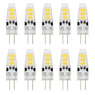 1W G4 LED betűzős izzók T 6 SMD 5733 80 lm Meleg fehér / Hideg fehér Dekoratív DC 12 V 10 db.