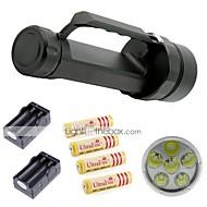 LED Lommelygter LED 2 Modus 9800 Lumens LumensJusterbart Fokus / Vandtæt / Oppladbar / Nedslags Resistent / Glidesikkert Greb / Strike