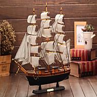 מודל השיט מהעץ של קישוטי עץ בסגנון הים תיכון