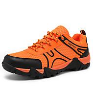 herresko tyll tilfeldige joggesko uformell gå flat hæl andre / snøre-up gul / grønn / grå / orange