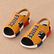 Boy's Sandals Summer Comfort / Open Toe / Sandals PU Casual Flat Heel Hook & Loop Black / Yellow