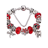 Style Silver Crystal Charm Bracelet for Women Beads DIY Jewelry #YMGP1016 Christmas Gifts