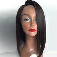 Najwięcej urody najlepiej Sprzedaż naturalne czarne krótkie bob prosto koronki przodu peruka włosy syntetyczne odporne na ciepło kobiety