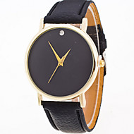 Women/Lady's Simple Pure Color Case Leather Band Analog Quartz Watch