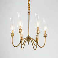 MAX:60W Chandelier ,  Country Brass Feature for Designers Metal Bedroom / Dining Room / Hallway