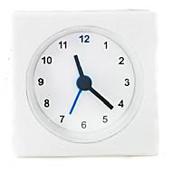 1pc בסגנון פשוט שעוני שולחן מרובע צורת מיטת שעון מעורר מיני חֲדַר עֲבוֹדָה vackis לבנים
