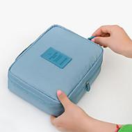 Unisex-Muuta nahkaa-Kosmetiikkalaukku-Pinkki / Sininen / Vihreä-Ammattilaiskäyttöön