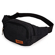 Men PVC Formal Waist Bag Black / Khaki