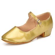 Obyčejné-Dětské-Taneční boty-Latina / Moderní-Leštěná kůže-Rovná podrážka-Zlatá