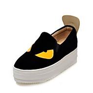 נעלי נשים-מוקסינים-קטיפה / דמוי עור-קריפרס / נוחות / מעוגל-שחור / כחול / אדום-משרד ועבודה / שמלה / קז'ואל-פלטפורמה