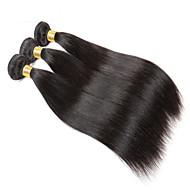 10A Brazilian Straight Hair With Closure 3 Bundles With Closures Cheap Human Hair With Closure Piece Straight Hair