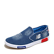 CEYUE Men's Shoes Denim Casual Walking Flat Heel Slip-on Blue EU39-43