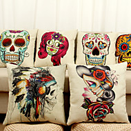 Decorative Pillow Case Cartoon Skull Pattern