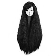 lange natürliche Welle synthetische Perücke billig hitzebeständige schwarze Farbe Frauen party synthetische Perücken