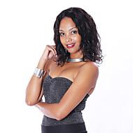 """8 """"-30""""브라질 처녀 사람의 모발 밥 느슨한 웨이브 레이스 프런트는 흑인 여성을위한 아기 머리를 가진 자연적인 검은 색 가발"""