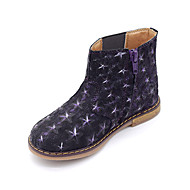 Girls' Shoes Casual Synthetic Boots Spring / Winter Round Toe Flat Heel Chain Purple