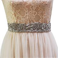 Elastic Satin Wedding Sash-Beading / Imitation Pearl Women's 98 ½in(250cm) Beading / Imitation Pearl