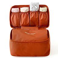 Damen Leinwand Gewerbliche Verwendungen Kosmetik Tasche Blau / Orange / Rot / Grau / Burgund