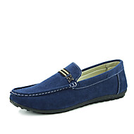 Men's Flats Spring / Fall Comfort Suede Casual Flat Heel Others Black / Blue / Khaki Walking