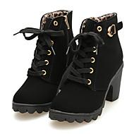 Zapatos de mujer - Tacón Robusto - Tacones - Botas - Casual - Ante Sintético - Negro / Amarillo