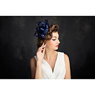 Women's Feather / Tulle Headpiece-Special Occasion Fascinators 1 Piece