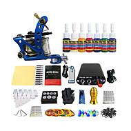 profissional da cor do pigmento equipamentos kit máquina de tatuagem bobina (entrega aleatória cor do punho)