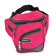 Unisex Canvas Casual Waist Bag Pink / Red / Black