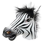moro halloween maske realistisk latex hestehode / interessant morsom fest masquerade masker silikon ansiktet zebra maske