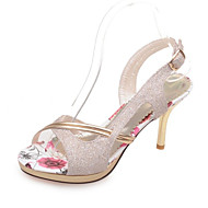 Women's Shoes Customized Materials Stiletto Heel Heels Sandals Wedding / Party & Evening / Dress
