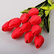 1 10 ענף פוליאסטר / פלסטיק צבעונים פרחים לשולחן פרחים מלאכותיים 13.7incm/35cm