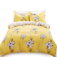 Full Cotton 4PC Duvet Covers Set Floral Pattern