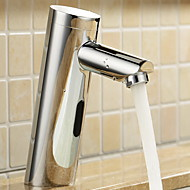 Contemporary Centerset Touch/Touchless with  Ceramic Valve Hands free One Hole for  Chrome , Bathroom Sink Faucet