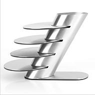 ステンレス鋼の金属コースターカップマグパッドはパッドプレイスマットカップボウルドリンクコースターの4個/ロット食器