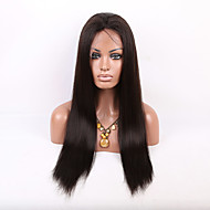Free Shipping 26-30 Inch Brazilian Virgin Human Hair Kinky Straight Wig Full Lace Natural Wigs