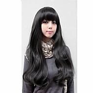 moda estilo bangs diárias natural do cabelo ondulado encaracolado perucas completas