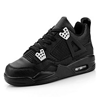 Men's Athletic Shoes Spring / Summer / Fall / Winter Flats Tulle Lace-up / Others Black / Blue / White Basketball