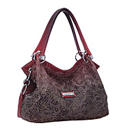 Women PU Barrel Shoulder Bag / Tote - Pink / Blue / Red / Gray / Khaki