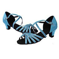 Sapatos de Dança(Marrom / Multicolorido) -Feminino-Personalizável-Latina / Tênis de Dança