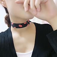 Da donna Girocolli Muso Tessuto Di tendenza Personalizzato Bianco Nero Blu scuro Blu Gioielli Per Feste Quotidiano Casual 1 pezzo