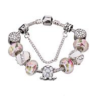 Femme Filles´ Charmes pour Bracelets Bracelets Rigides Bracelets de rive Bracelets en Argent CristalAcrylique Strass Plaqué argent