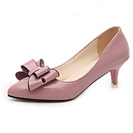 Women's Shoes Bowknot Patent Leather Heels / Basic Pump / Pointed Toe Heels Office & Career / Party & Evening / Dress