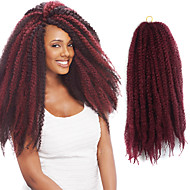 """Vinho tinto 17 """"kanekalon afro kinky tranças torção havana cabelo curly tranças sintéticas 100g"""