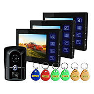 ultra thin blue key IP55 niveau waterdicht 7 inch high-definition video deurbel een paar van de drie