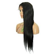 """8 """"-26"""" cabelo virgem reta glueless peruca peruca dianteira do laço brasileira com cabelo do bebê para as mulheres negras"""